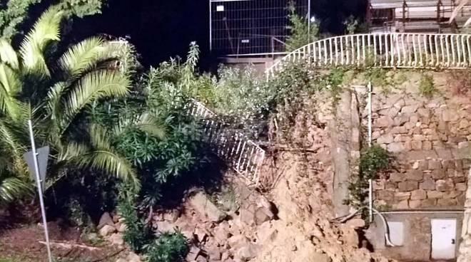muro crollato bordighera