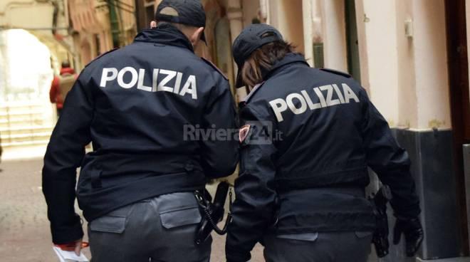 riviera24 - polizia centro storico sanremo