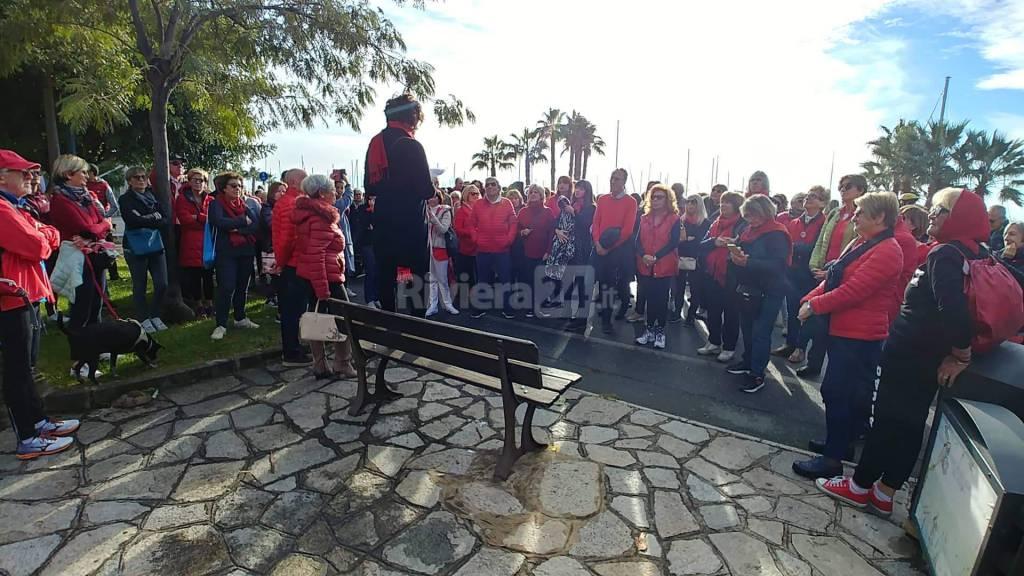 Sanremo, passeggiata contro la violenza sulle donne