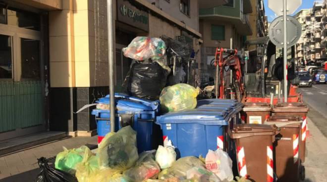 rifiuti a Sanremo