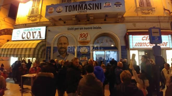 Riviera24- inaugurazione point elettorale Tommasini