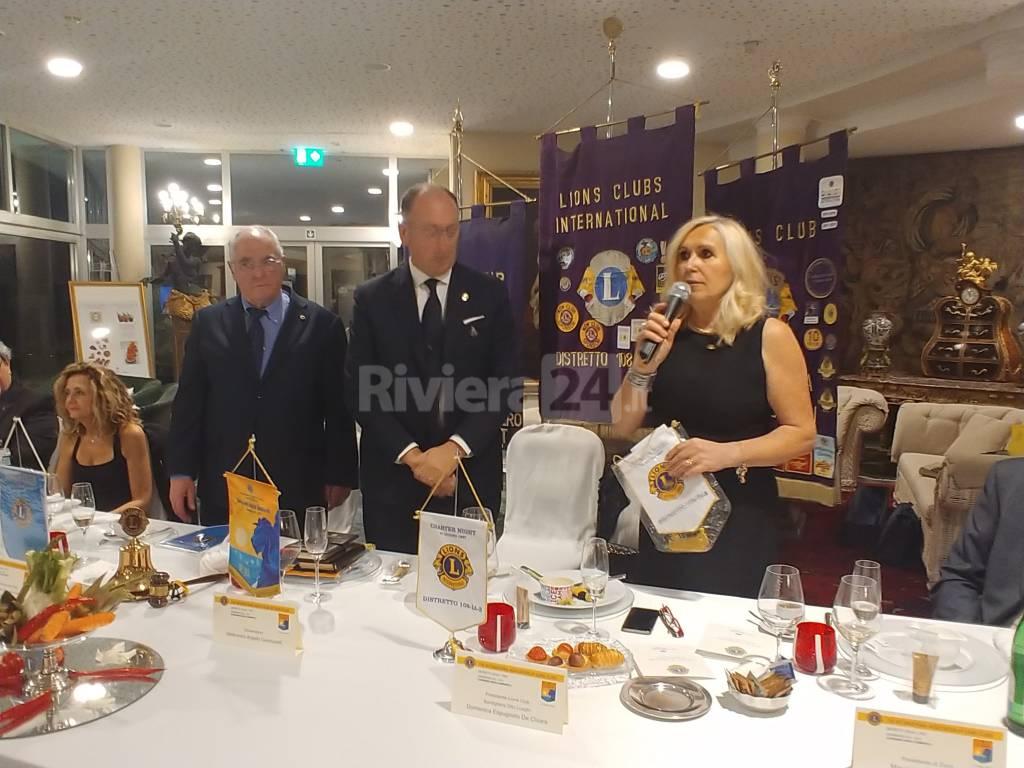 Lions Club Bordighera visita governatore