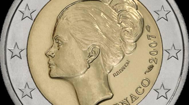 riviera24 - 2 euro del Principato di Monaco con l'effige di Grace Kelly