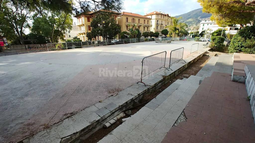 riviera24-Ospedaletti rendering restyling di Piazza Europa