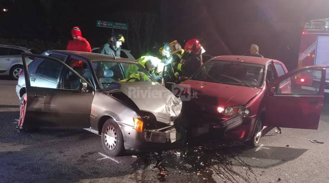 Incidente stradale piazza valgoi bordighera