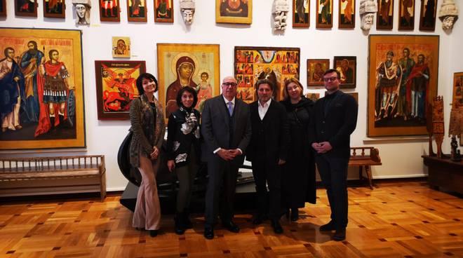 Marco Sarlo all'Accademia di Belle Arti di Mosca