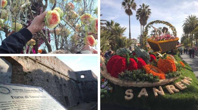 Sanremo, una cascata di fiori su Santa Tecla per la sfilata ...