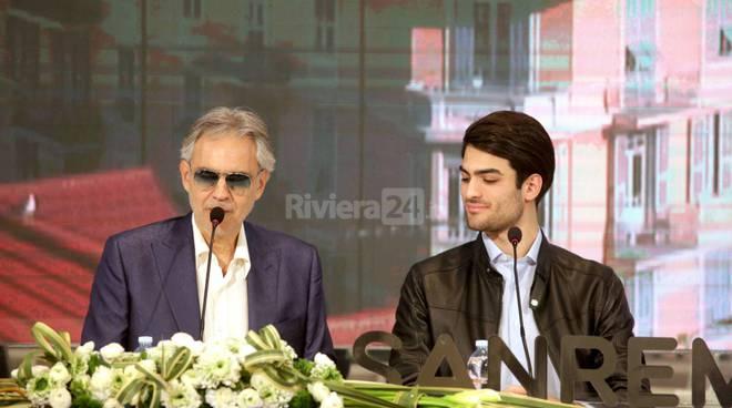 riviera24-bocelli e figlio festival sanremo