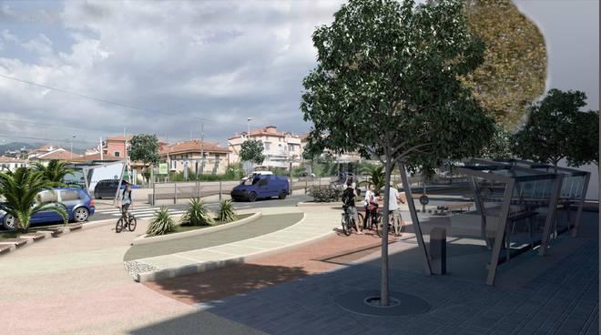 Diano Marina reendering progetto riqualificazione urbana