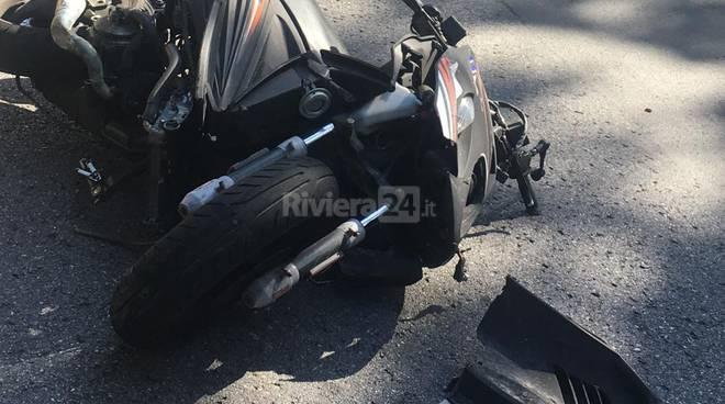 incidente scooter sanremo