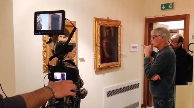 Striscia la notizia alla Pinacoteca Rambaldi