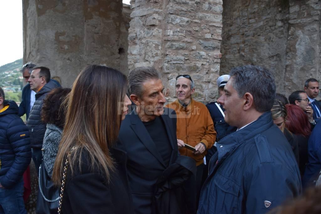 Il principe Alberto visita la mostra monet