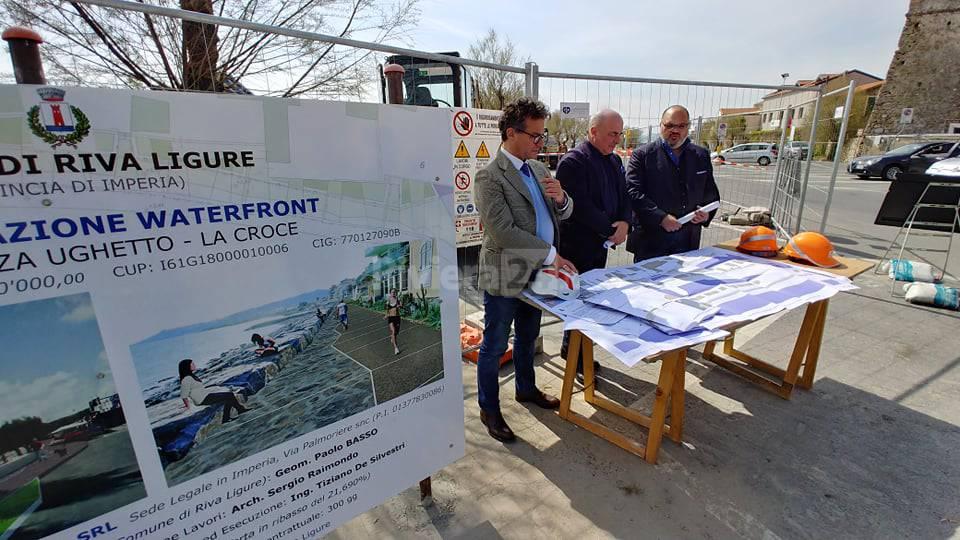 Riva Ligure lavori waterfront principessa Grace passeggiata mare
