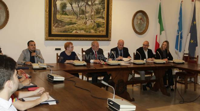consiglio comunale di Ospedaletti consiglieri sindaco cimiotti