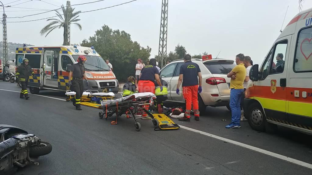 Incidente stradale, i soccorsi ospedaletti bordighera