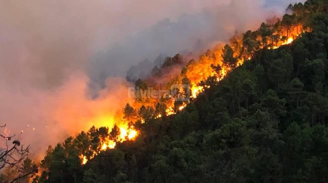 Incendio Coldirodi Sanremo