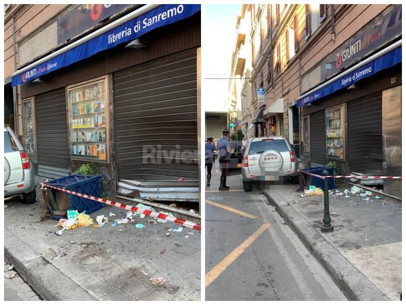 Perde controllo auto Sanremo