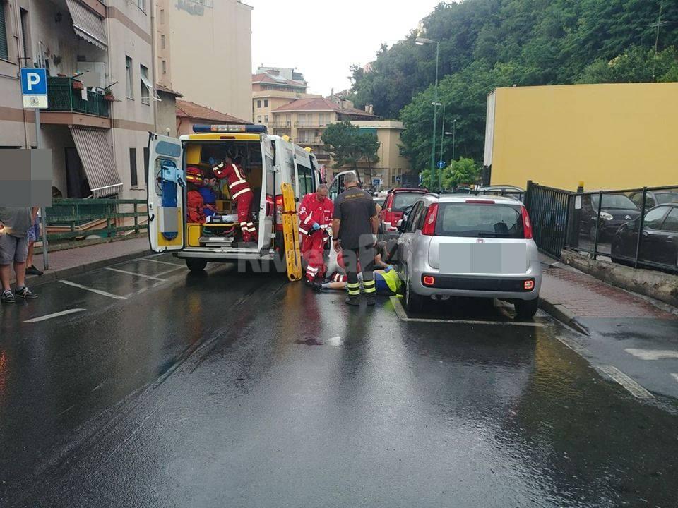 Sanremo, incidente in via San Francesco