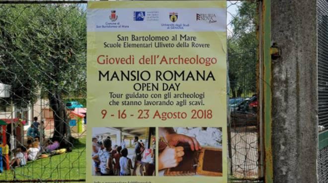 Mansio Romana di San Bartolomeo al Mare, emergono nuovi reperti