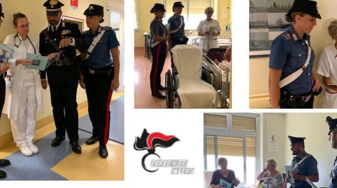 Riviera24- carabinieri visitano gli ospedali
