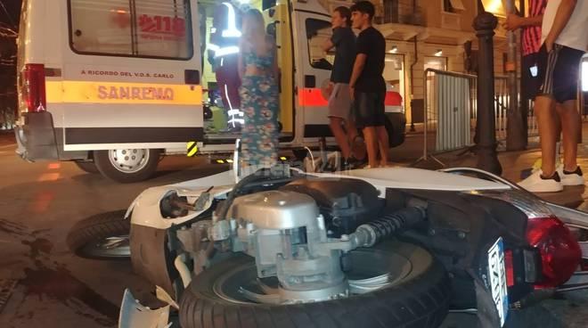 Riviera24 - Sanremo croce rossa incidente notturna