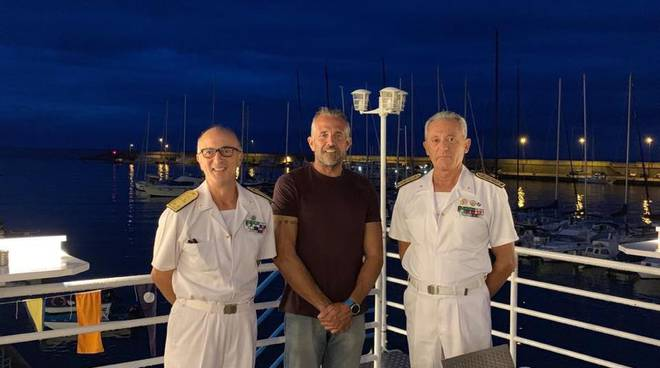 Ammiraglio Pettorino alla Canottieri Sanremo