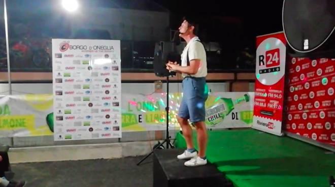 Fabrizio Fontana in diretta su R24 Radio da Borgo d'Oneglia