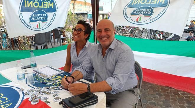Riviera24- Fratelli d'Italia in piazza Colombo