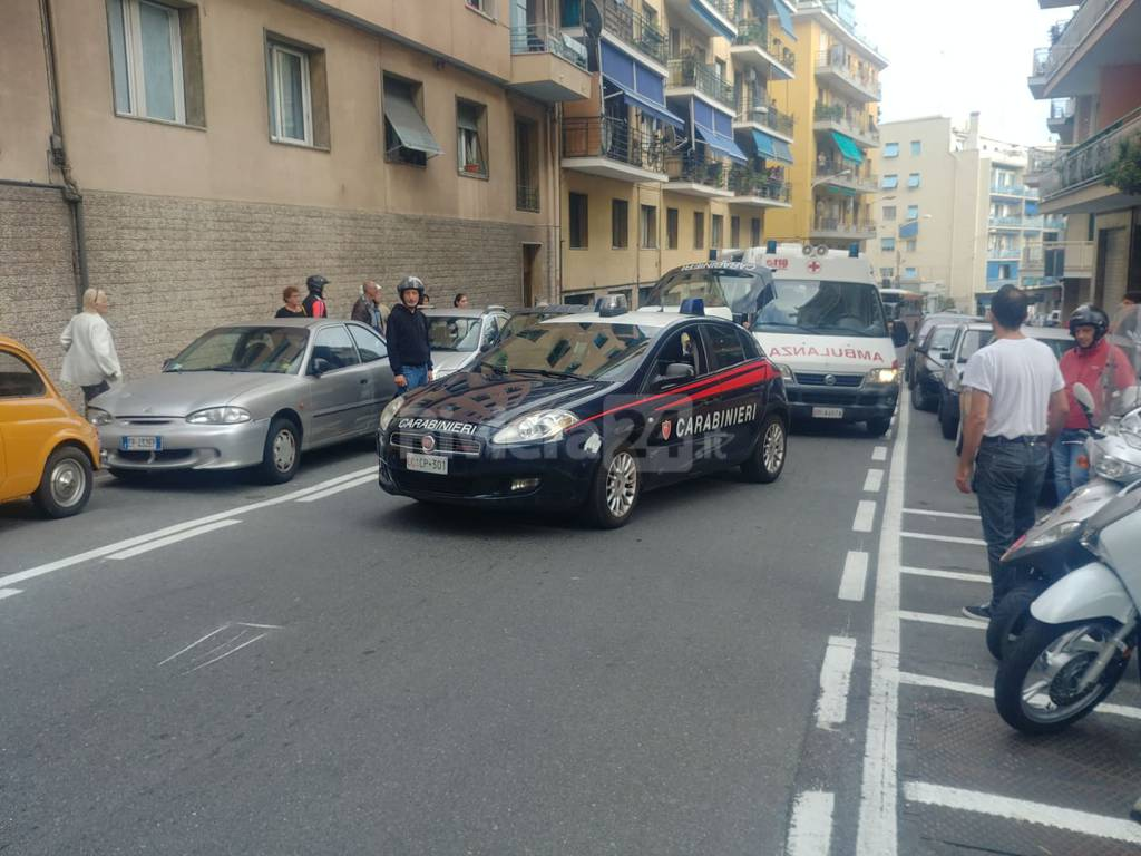 Sanremo incidente via Martiri