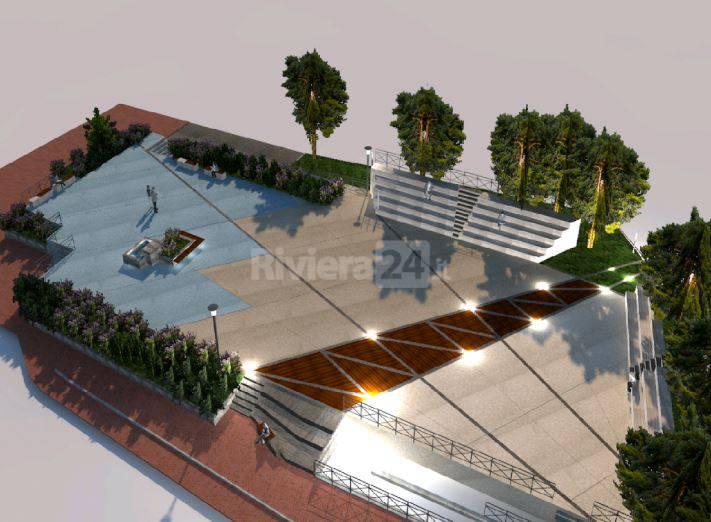 La vista delle nuova piazza Europa