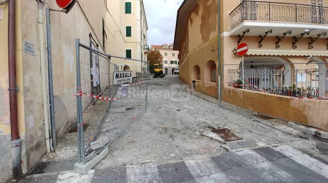 Lavori via Papa Giovanni Ospedaletti