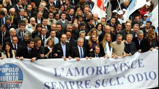 corteo forza italia
