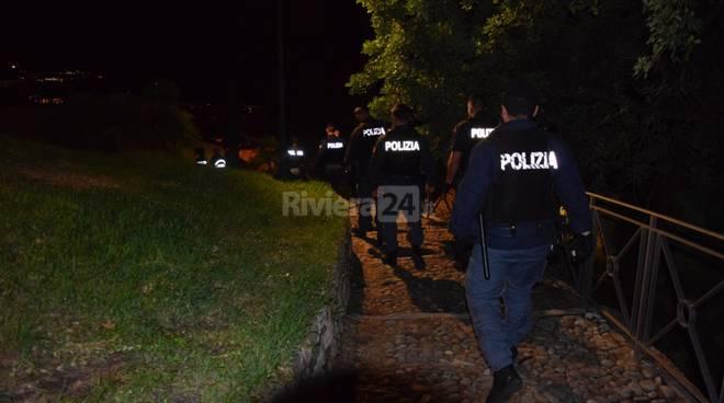 Pattuglione polizia Pigna Sanremo