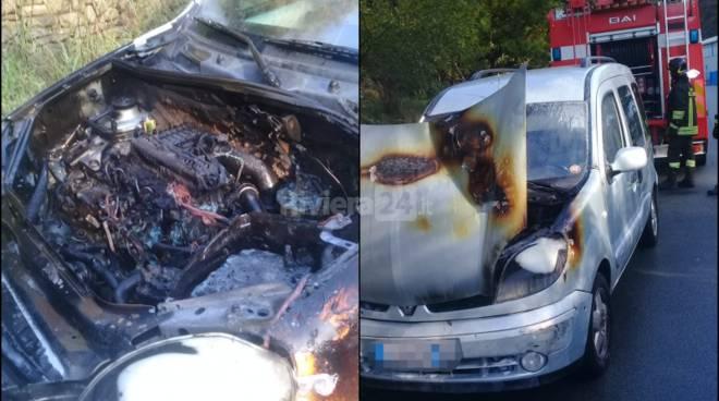 incendio auto soldano