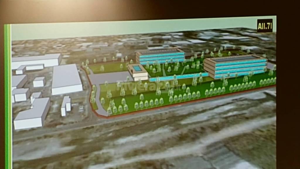 progetto ultimo ospedale unico Taggia dietro centro commerciale