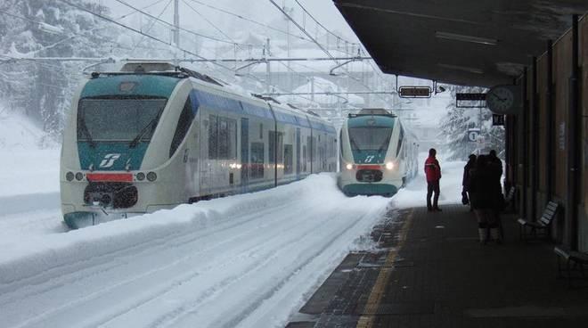 Riviera24- ventimiglia cuneo neve treno
