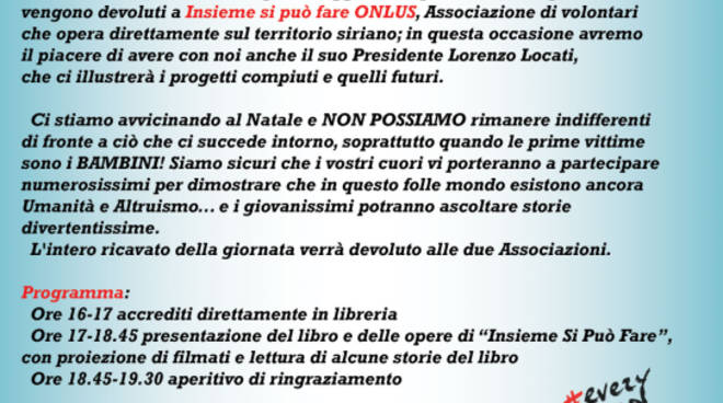 "Evento di beneficenza - Presentazione Libro ""Every Child Is My Child\"""