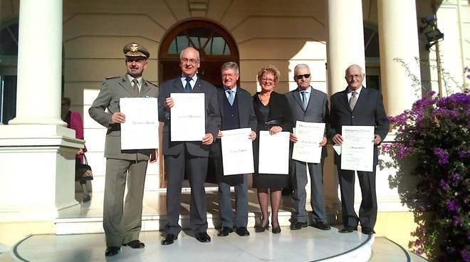 Imperia, i cavalieri della Repubblica ricevono le onorificenze del presidente Mattarella
