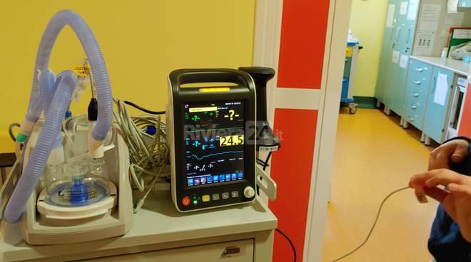 Consegna respiratore Ospedale di Imperia reparto Pediatria