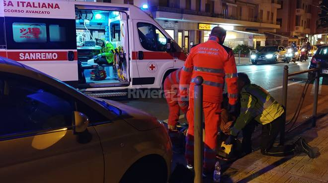 incidente stradale sanremo