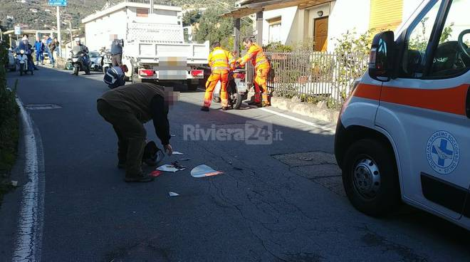 riviera24 - Sanremo incidente scooter furgone