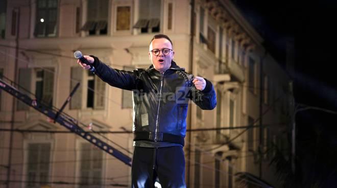 Sanremo, Gigi D'Alessio Show in piazza Colombo