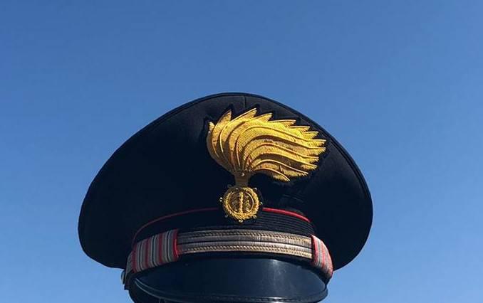 cappello carabinieri lutto