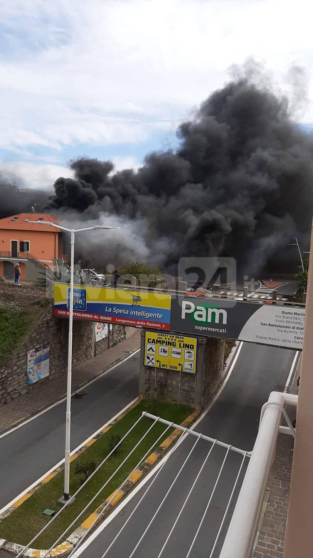 Riviera24- incendio San Bartolomeo