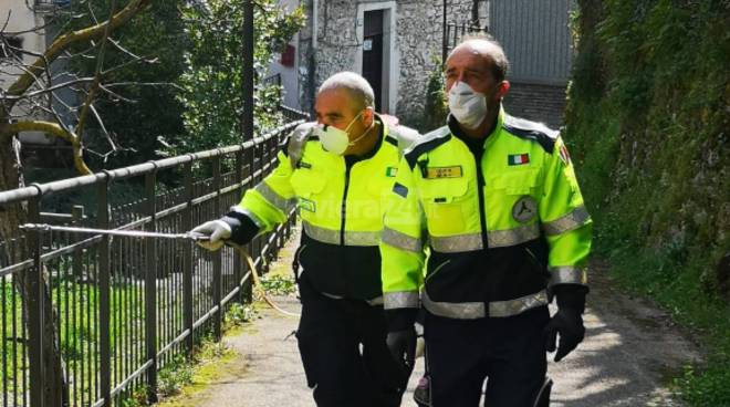riviera24 - sanificazione rocchetta nervina protezione civile dolceacqua