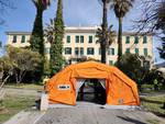 tenda triage Bordighera