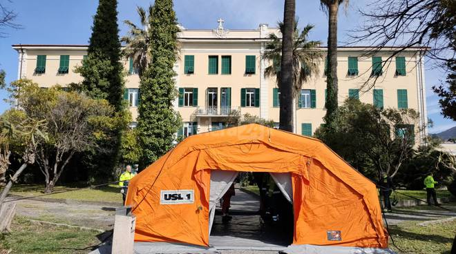 tenda triage Bordighera