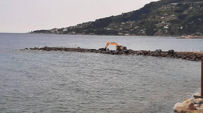 Ospedaletti lavori litorale