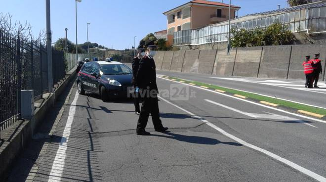 Pattuglione carabinieri Sanremo