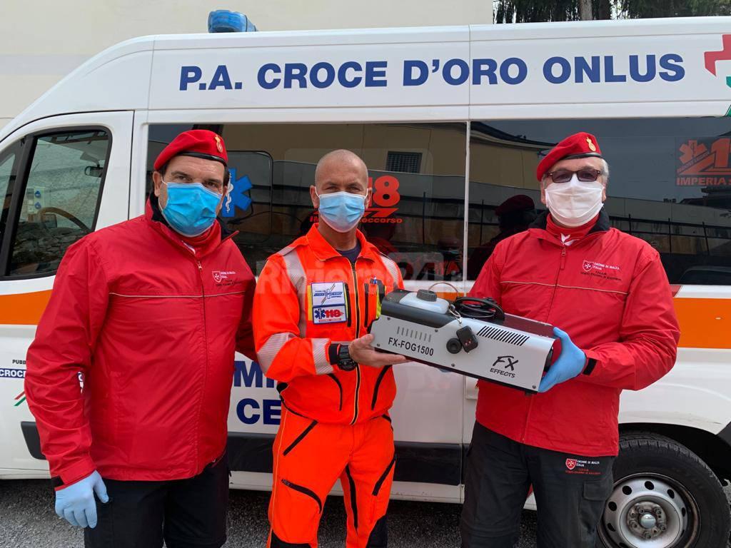 riviera24 - CISOM Sanremo sanificatore ambulanza Croce d'Oro